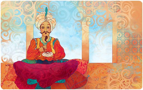 Рисунок с султан